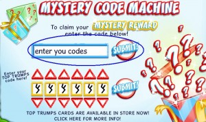 Binweevils Codes entry