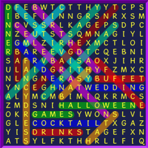 wordsearch party time