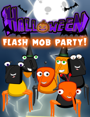 halloween flash mob party